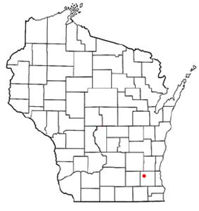 Location of Nashotah, Wisconsin