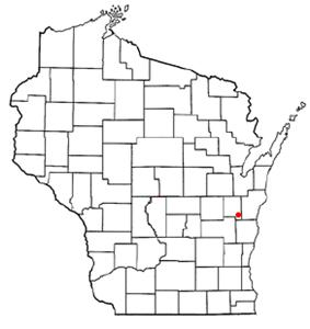 Location of New Holstein, Wisconsin