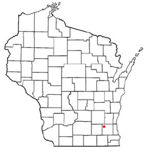 Location of Okauchee Lake, Wisconsin