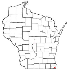 Location of Pleasant Prairie, Wisconsin