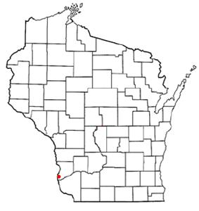 Location of Prairie du Chien in Crawford County, Wisconsin