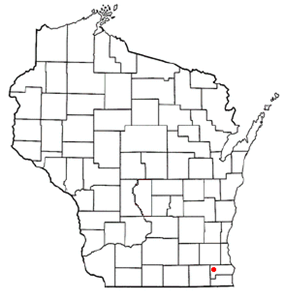 Location of Rochester, Wisconsin