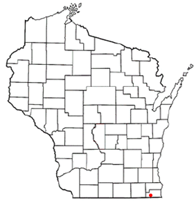 Location of Salem, Wisconsin