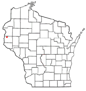 Location of Star Prairie (town), Wisconsin