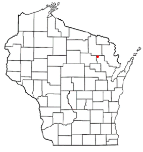 Location of Townsend, Wisconsin