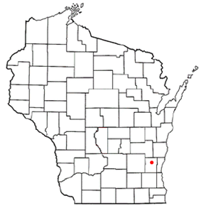Location of West Bend within Wisconsin.