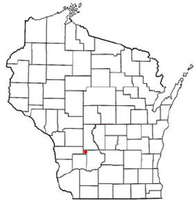 Location of Woodland, Wisconsin