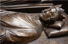 Photograph of the Cast of the effigy of King Henry the third in Westminster Abbey, c. 1272