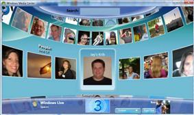 A screenshot of Windows Live for TV