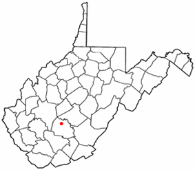 Location of Ansted, West Virginia