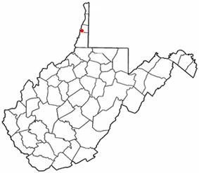 Location of Bethlehem, West Virginia