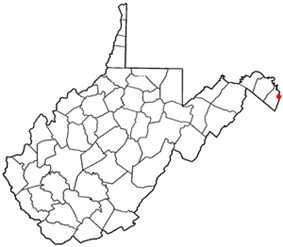 Location of Bolivar in West Virginia