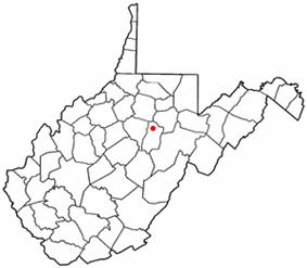 Location of Buckhannon, West Virginia
