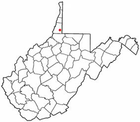 Location of Cameron, West Virginia