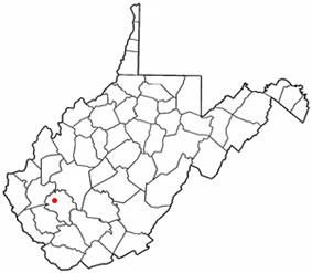 Location of Danville, West Virginia