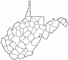 Location of Durbin, West Virginia