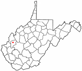 Location of Eleanor, West Virginia
