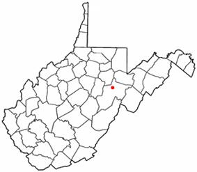 Location of Elkins, West Virginia