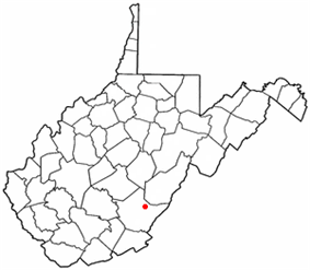 Location of Falling Spring, West Virginia