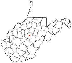 Location of Flatwoods, West Virginia