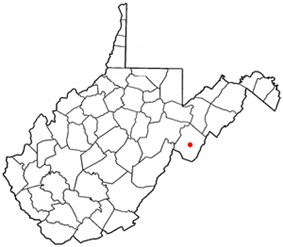 Location of Franklin, West Virginia