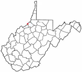 Location of Friendly, West Virginia