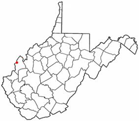 Location of Henderson, West Virginia