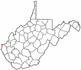 Location of Kenova, West Virginia