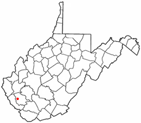 Location of Logan, West Virginia