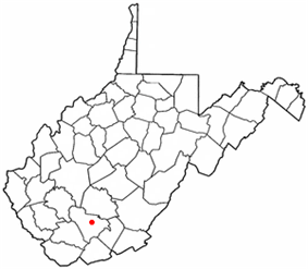 Location of Mabscott, West Virginia