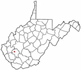 Location of Madison, West Virginia