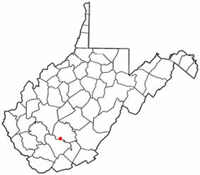 Location of Mount Hope, West Virginia