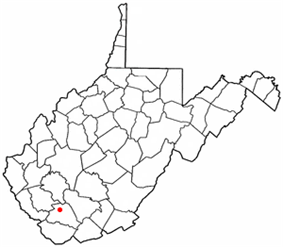 Location of Oceana, West Virginia