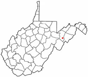 Location of Petersburg, West Virginia