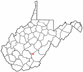 Location of Quinwood, West Virginia
