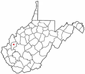 Location of Winfield, West Virginia