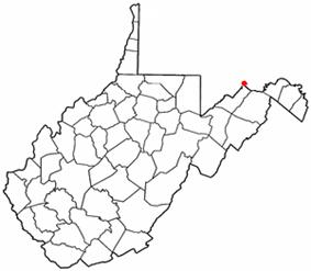 Location of Ridgeley, West Virginia