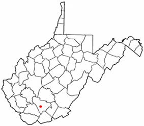 Location of Sophia, West Virginia