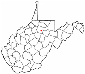 Location of Stonewood, West Virginia
