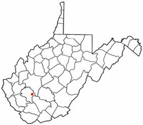 Location of Sylvester, West Virginia
