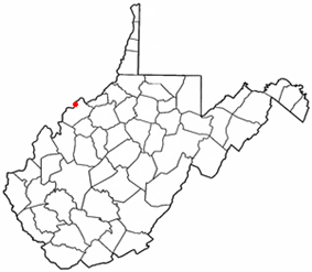 Location of Vienna, West Virginia