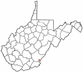 Location of White Sulphur Springs, West Virginia