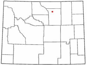 Location of Buffalo, Wyoming
