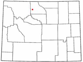 Location of Burlington, Wyoming