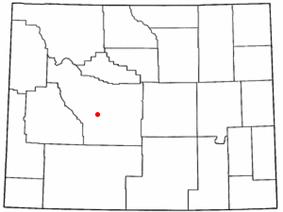Location of Lander, Wyoming