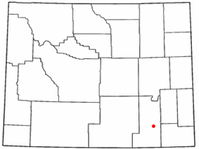 Location of The Buttes, Wyoming