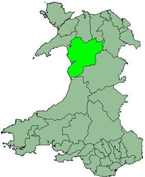Meirionnydd district 1974-1996