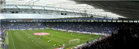 Leicester City's stadium, the King Power Stadium, from the inside