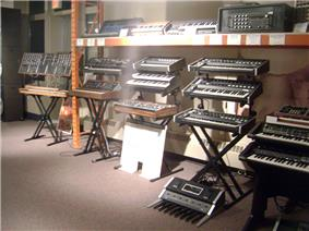 Wall of Moog at Cantos Music Foundation