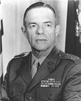 black & white photograph of Wallace M. Greene, Jr.